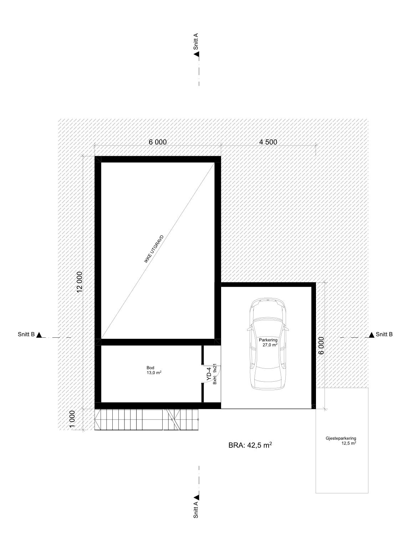 Plantegning hustype A
