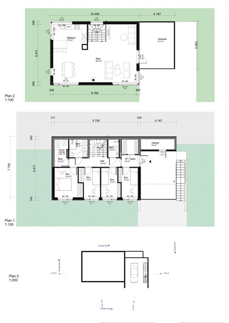 Plantegning hustype E