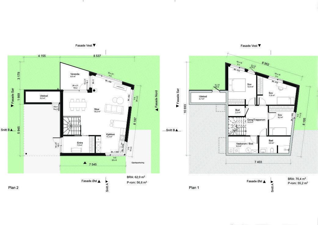 Plantegning hustype C