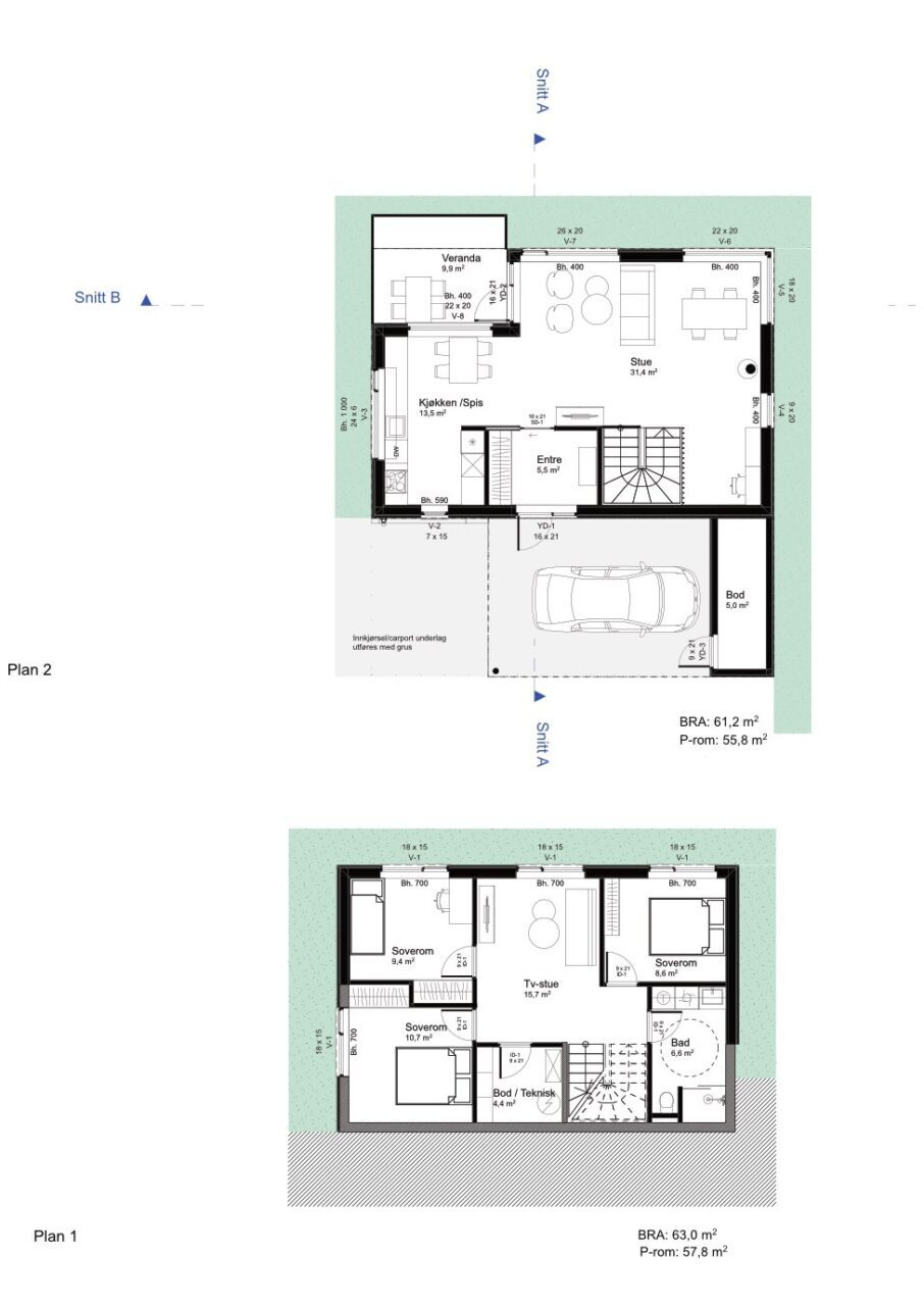 Plantegning hustype F