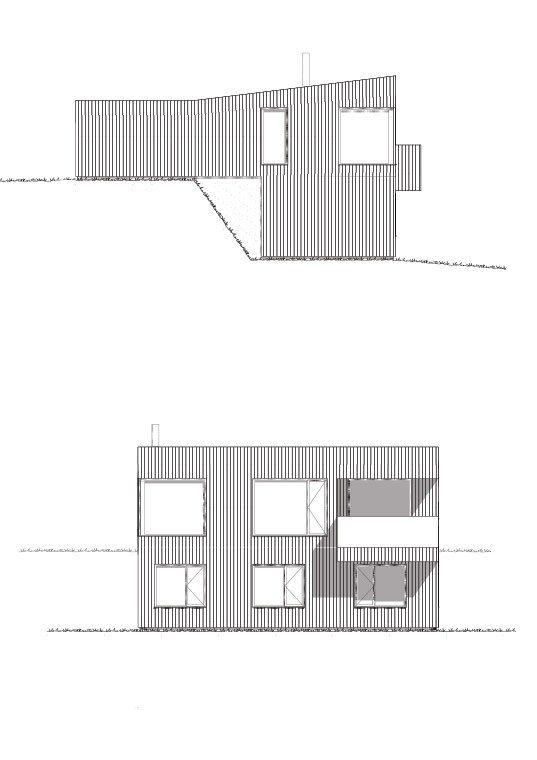 Fasade Nordre og vest hustype F