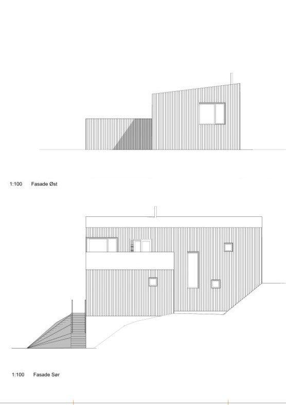 Fasade sør og øst hustype A