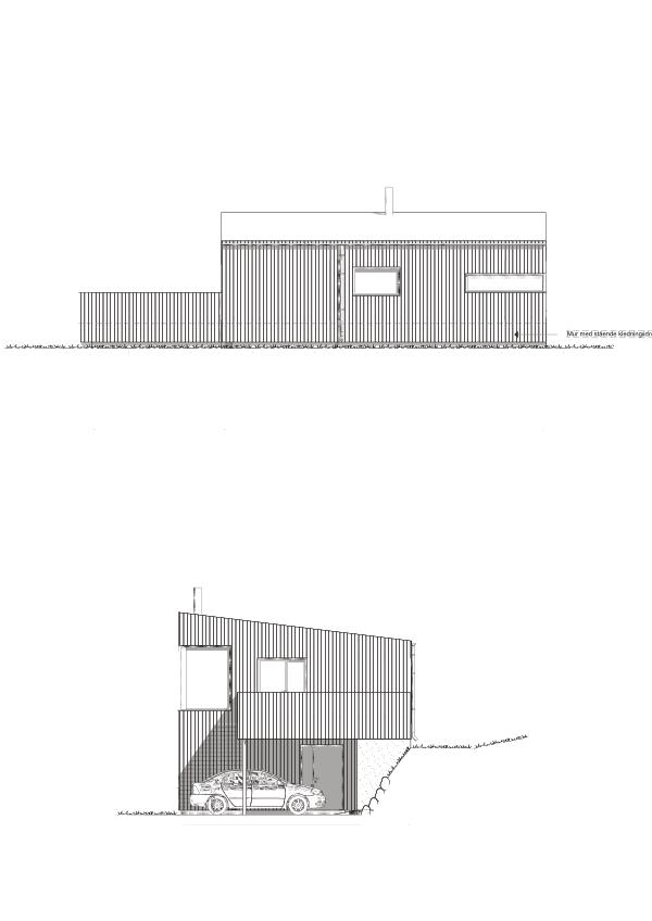 Fasade sør og øst hustype E