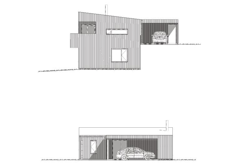 Fasade sør og øst hustype F