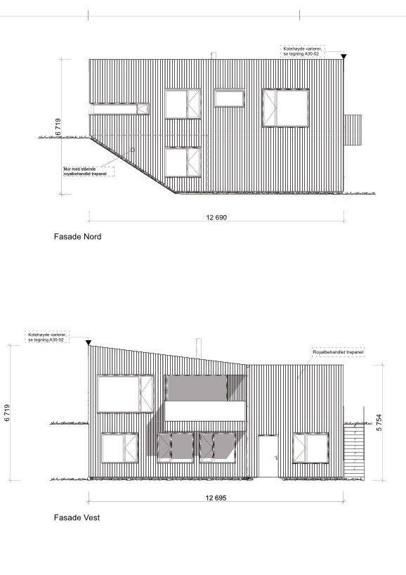 Fasade nord og vest hustype D